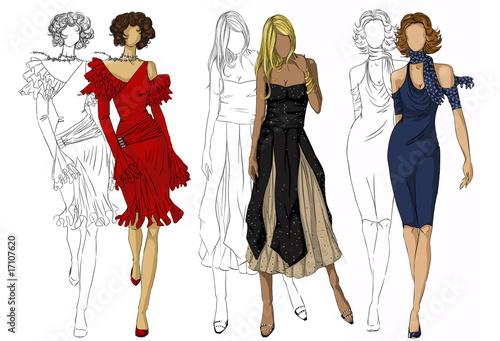 Leinwanddruck Bild Fashion composit