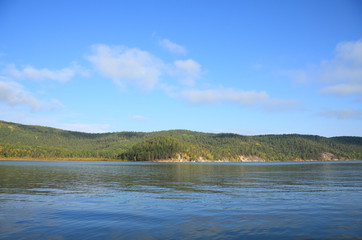 Baikal lake , Chivirkuy Bay. The Holy Nose Peninsula