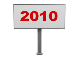 new year billboard