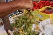 raisin italia sur étale de marché