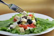 salat with feta cheese and fresh vegetables