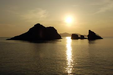 il sole tramonta a Ponza