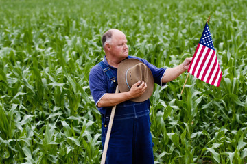 Patriotic Retired Old Man