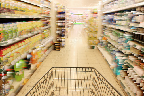 Keuken foto achterwand Boodschappen Shopping in supermarket