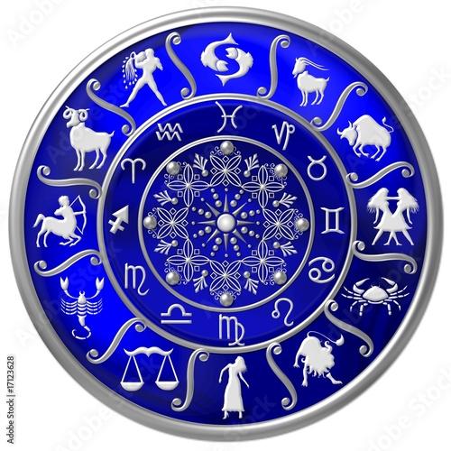 blaue horoskopscheibe mit sternzeichen symbolen stockfotos und lizenzfreie bilder auf fotolia. Black Bedroom Furniture Sets. Home Design Ideas