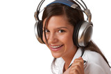 Smiling teenager with headphones