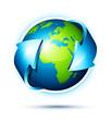 Planète terre / communication and business concept