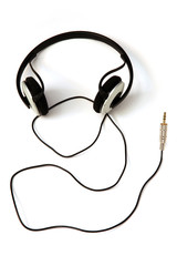 headphones, white background