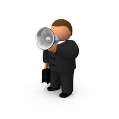 Orator with speaker