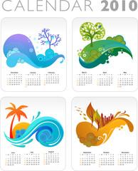 Colorful Vector Calendar for 2010