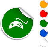 Gamepad sheet icon. Vector illustration poster