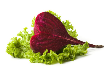 Beetroot in the shape oh heart