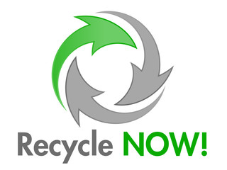 Recycle NOW Vector Design Element