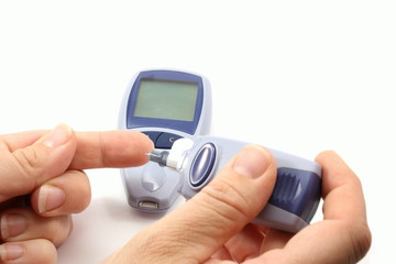 Checking your blood sugar.