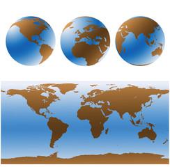 Set de mapas vectorizados