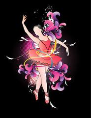 ballet en vector