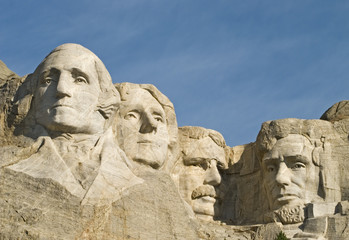 Closeup of Mt Rushmore