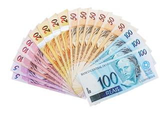 Leque dinheiro Reais