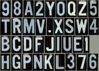 Grunge road alphabet so you can compose your message
