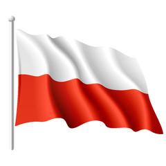 Flag of Poland. Vector.