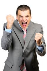 panicking businessman