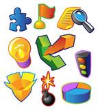 Colorful vectors: business metaphors poster