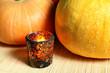 Pumpkins on halloween