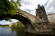 A rather unusual view of the Charles Bridge in Prague, Czech rep