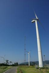 秋風の風車