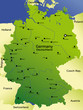 detailed vector map of germany