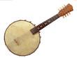 Leinwandbild Motiv Vintage Six String Banjo