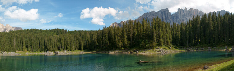 Carezza Lake panorama