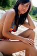 Beauty bikini babe