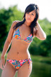 Colorfull bikini babe