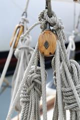 Old sailboat blocks
