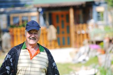 happy senior man outdoor