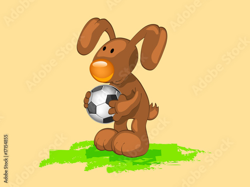 rabbit with ball