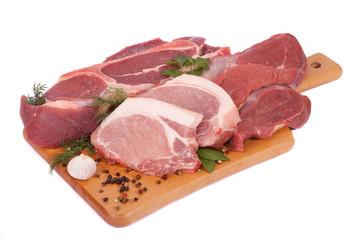 Meat allsorts on board