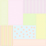 Seamless baby patchwork pattern poster