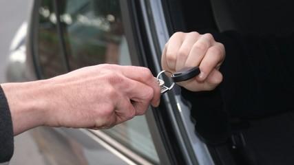 Arguing over the car keys