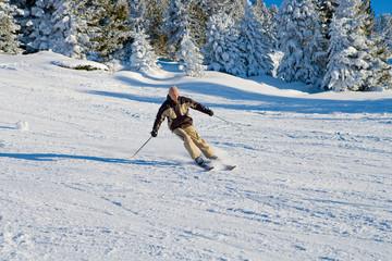 Skier curve