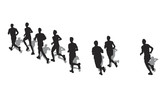 group of male marathon runners poster