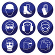 Mandatory construction related icon set