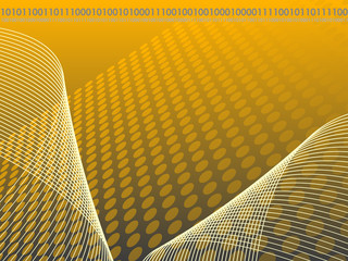 Grey, Gold and Yellow Binary Abstract Business Background
