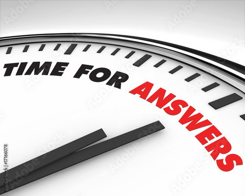 canvas print picture Time for Answers - Clock