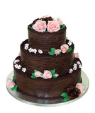 Three Tiered Chocolate Cake with path