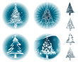 Set of Christmas tree design, vectos illustration layered.