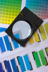 Magnifying Glass on Color Swatches Series - White