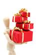 Pantin chargé de cadeaux de Noël