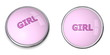 Button Pink Word Girl